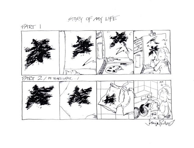 Sanja Pribić - Story of my life, tuš na papiru, 2003.