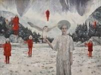 Tina Dobrajc -Balkan saga II, akril na platnu, 200x150cm, 2017.
