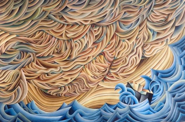 Damir Facan-Grdiša - Oblak veliki, akvarel na papiru, 100x150cm