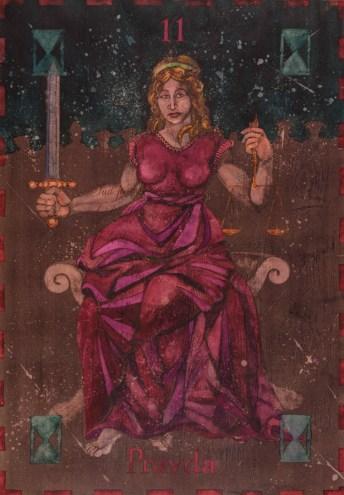 Siniša Reberski - Pravda božica, akvarel na papiru, 50x70cm, 2019., foto: Josip Strmečki