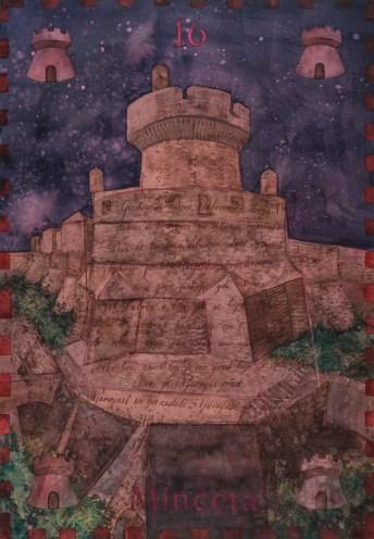 Siniša Reberski - Minčeta od Njarnjas grada, akvarel na papiru, 50x70cm, 2019., foto: Josip Strmečki
