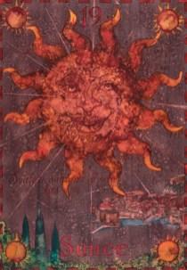 Siniša Reberski - Sunce - od neba ures, akvarel na papiru, 50x70cm, 2019., foto: Josip Strmečki