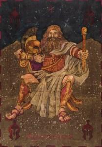 Siniša Reberski - Agamenon silni, akvarel na papiru, 50x70cm, 2019., foto: Josip Strmečki