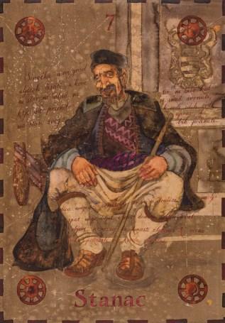 Siniša Reberski - Stanac, akvarel na papiru, 50x70cm, 2019., foto: Josip Strmečki