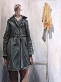 Autoportret - akril na kaširanom platnu, 30x40cm, 2018.