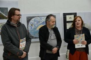 Nagrađeni autori Zoran Kakša, Zdravko Milić i ravnateljica Romana Tekić