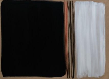 """Trag zemlje"", 80x110cm, akril i ugljen na platnu, 2017."