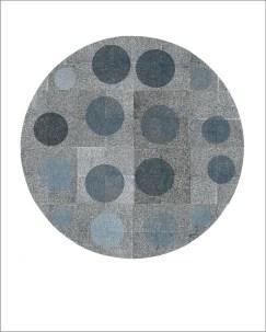 Gra(y)vity of the rainy night, 2018., linorez ,120x120 cm (16 segmenata)