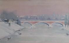 Milivoj Svoboda - Most - Sisak, akvarel,34x52cm