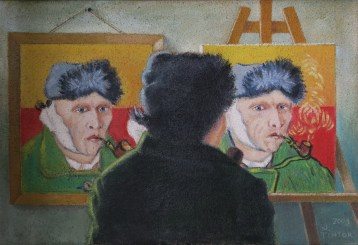 Nedeljko Tintor - Vincent van Gogh, 2009., ulje na platnu, 50x74cm