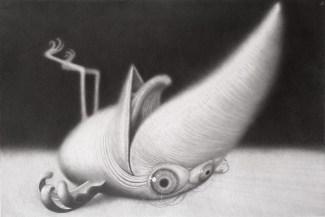 Shadok, 2016., olovka na papiru, 80 x 120 cm