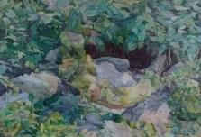 Sjena u ljepoti, akvarel na papiru,57cmx77cm