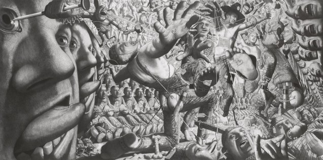 Uskrsnuće, 2001., olovka na papiru, 150 x 300 cm