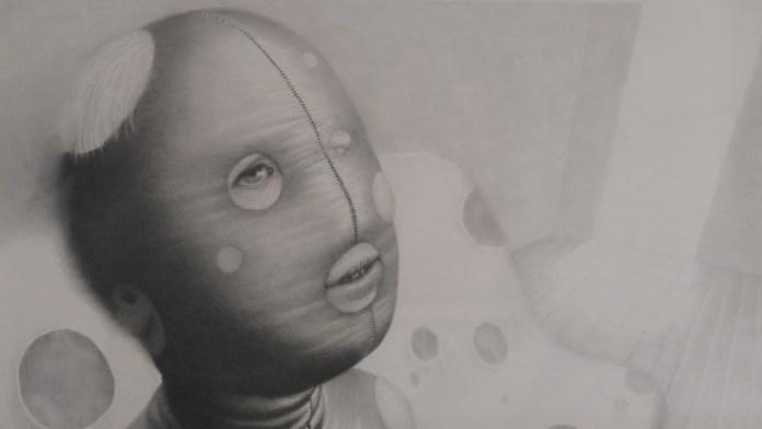 Uvrnuta družina (detalj), 2011., olovka na papiru, 76 x 58 cm