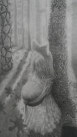 Zasjeda (detalj), 2013 - 2019., olovka na papiru, 216 x 113 cm