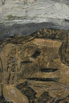 Ana Đapović - Tlo; enkaustika, 65x45cm, 2018.