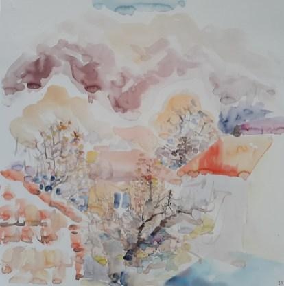 Cetinje, akvarel, 50 x 50cm, 2017.