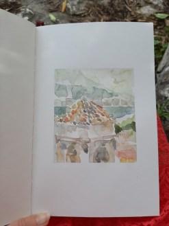 Roofs of Kotor, 23 x 15 cm, akvarel, 2020.