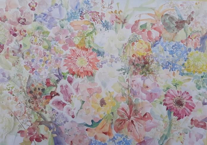 Summer extasy, akvarel, 50x70cm, 2020.