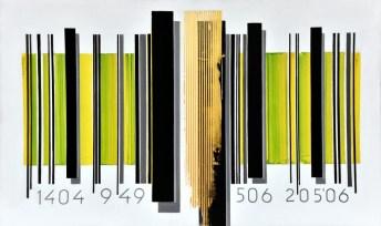 Kodirana misao 20506 - akrilik/drvo, 83,5x139cm, 2006.