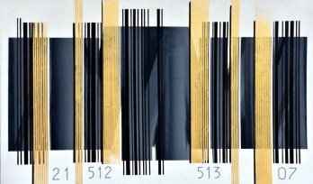 Kodirana misao 21512 - akrilik/drvo, 83,5x139cm, 2007.