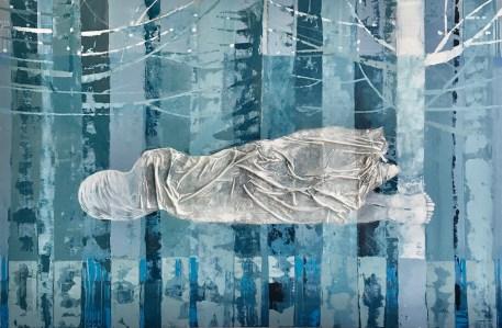 Anja Kranjc - Utjelovljenje divljine IX, akril i tkanina na platnu, 125x150cm, 2020.