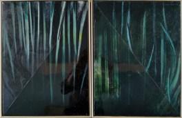 Distorzije II - ulje i epoksi na platnu, 30x40cm, 2019.