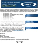 Best's Statement File Promotional E-mail, March, 2013