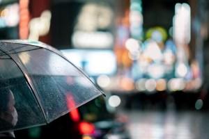 Women holding an umbrella in Tokyo, Japan