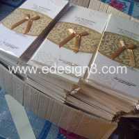 Cetak 250 undangan Hardcover HOC-08i pesanan mba rina di banjarmasin