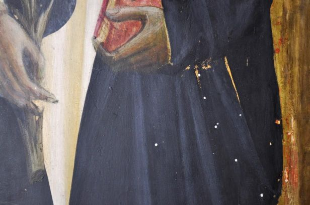 Incoronazione della Vergine di Giovanni dal Ponte della Galleria dell'Accademia di Firenze, particolare (restauro)