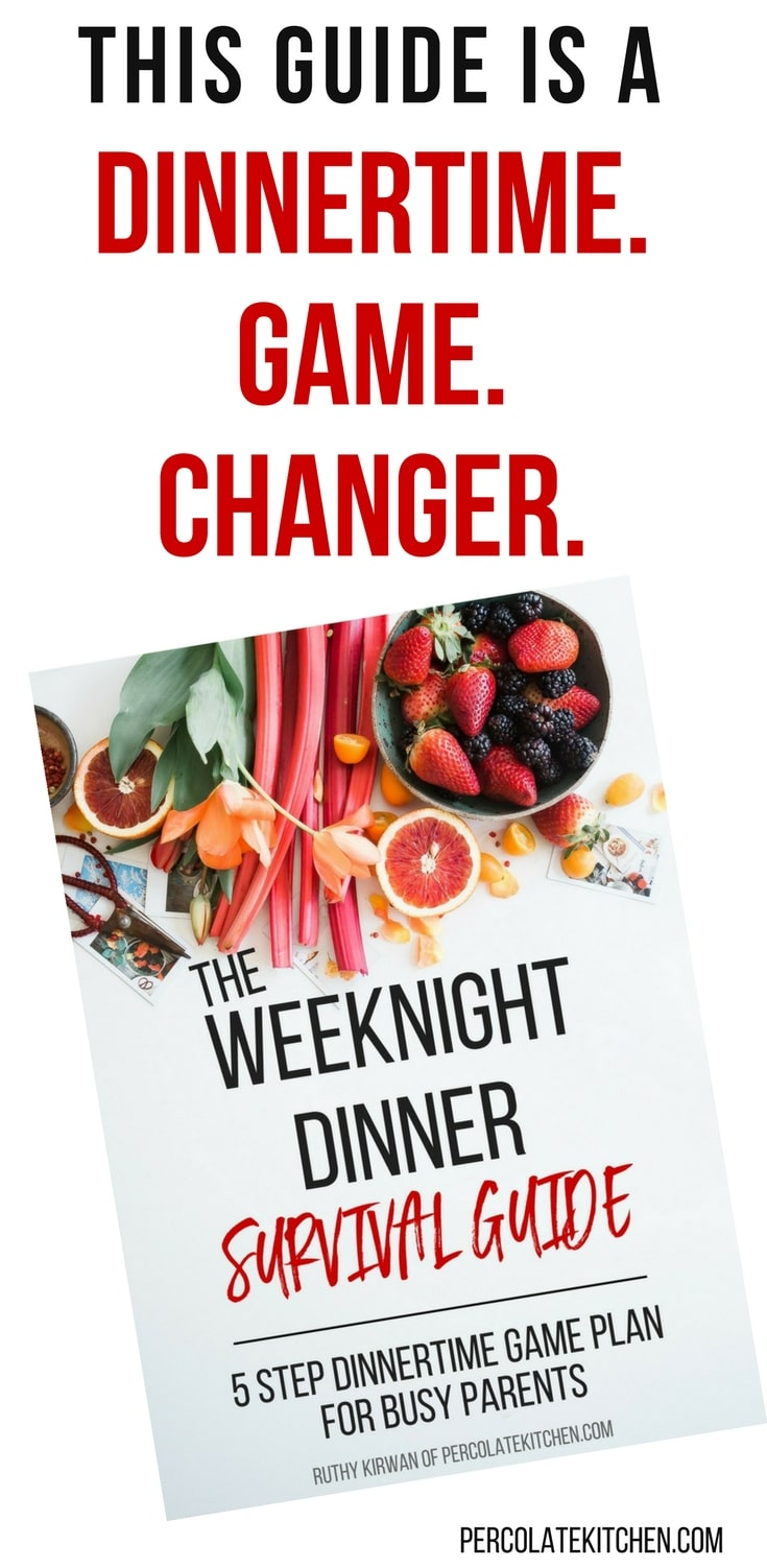 This guide is a dinnertime GAME CHANGER. If you're a busy working parent who's ever felt stressed, rushed, or anxious about getting a reasonably healthy weeknight dinner on the table within a reasonable amount of time... then this is the no-fluff, step-by-step, bullshit-free guide for YOU.