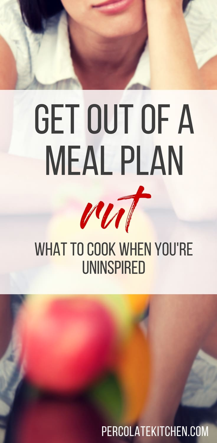 We've all been there: bored with the same rotation of meals, night after night and in need of new meal planning ideas. Thankfully, Tiffany from Don't Waste the Crumbs has some good tips for snapping out of the meal planning rut and getting some fresh recipes into your kitchen!