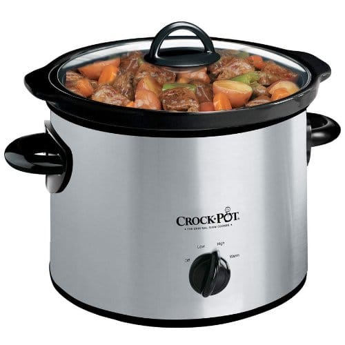 Crockpot 3 Quart Manual Slow Cooker