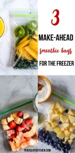 It is so easy to just pull a smoothie bag from the freezer in the mornings or after I get home from the gym! I love how she's got a couple easy ideas here, plus added 'extras' to add so it's not just fruit.