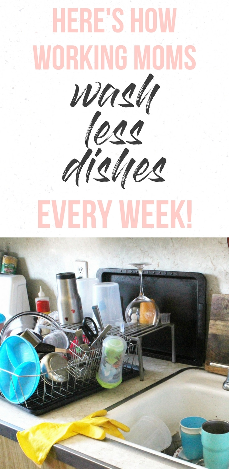 She's right: having a routine of working moms' meal prep saves SO MUCH TIME, and I know it helps with cooking, but it helps with washing less dishes, too! Such a good point. Has a handy downloadble meal prep worksheet included, too.