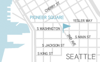 Pioneer Square, Seattle Map