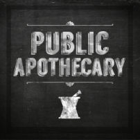 "Chalkboard ""Public Apothecary"""