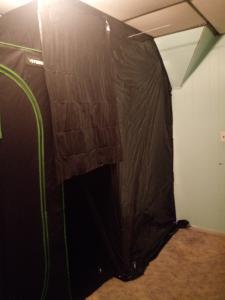 home made veg tent