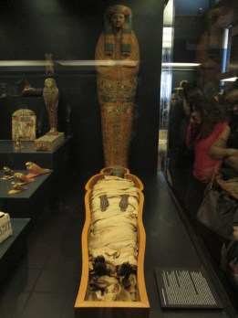 Yes, this is a mummy. The Vatican has a whole mummified person. It is both cool and creepy.