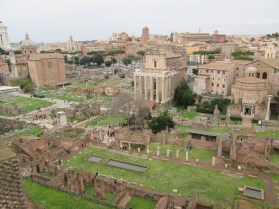 View of the Forum from the lookout on Palatine Hill.