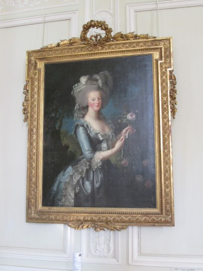 Famous portrait of Marie Antoinette herself.