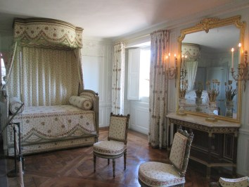 Marie Antoinette's bedroom. Also, smaller and simpler than I was expecting.