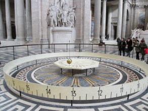 A Foucault pendulum in the middle of the building. These things are so cool. Apparently, this is the second (but most famous) place the physicist Leon Foucault constructed such a pendulum to demonstrate the Earth's rotation in 1851.