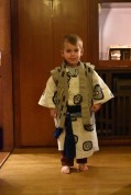 His cutest Yukata look at our Ryokan in Kobe (Arima hot springs)