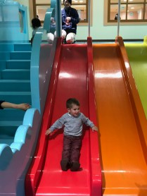 Sliding Down at Anpanman Children's Museum in Kobe