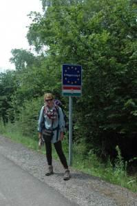 Daria na granicy słowacko-węgierskiej