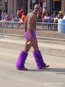 Resplendent in purple