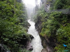 The river Breitach near the end of the gorge