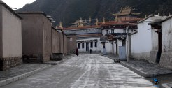 A street inside the monastery complex